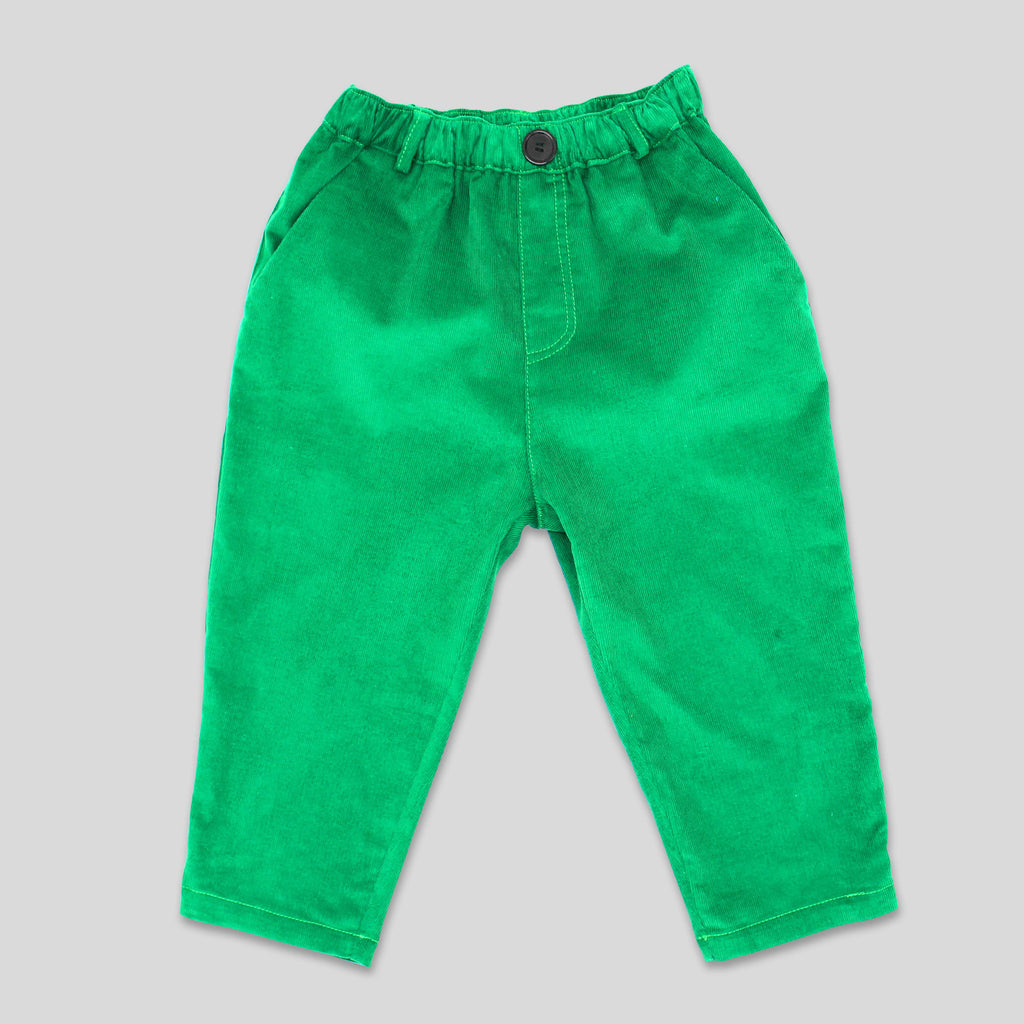New: Cord Trousers in Green