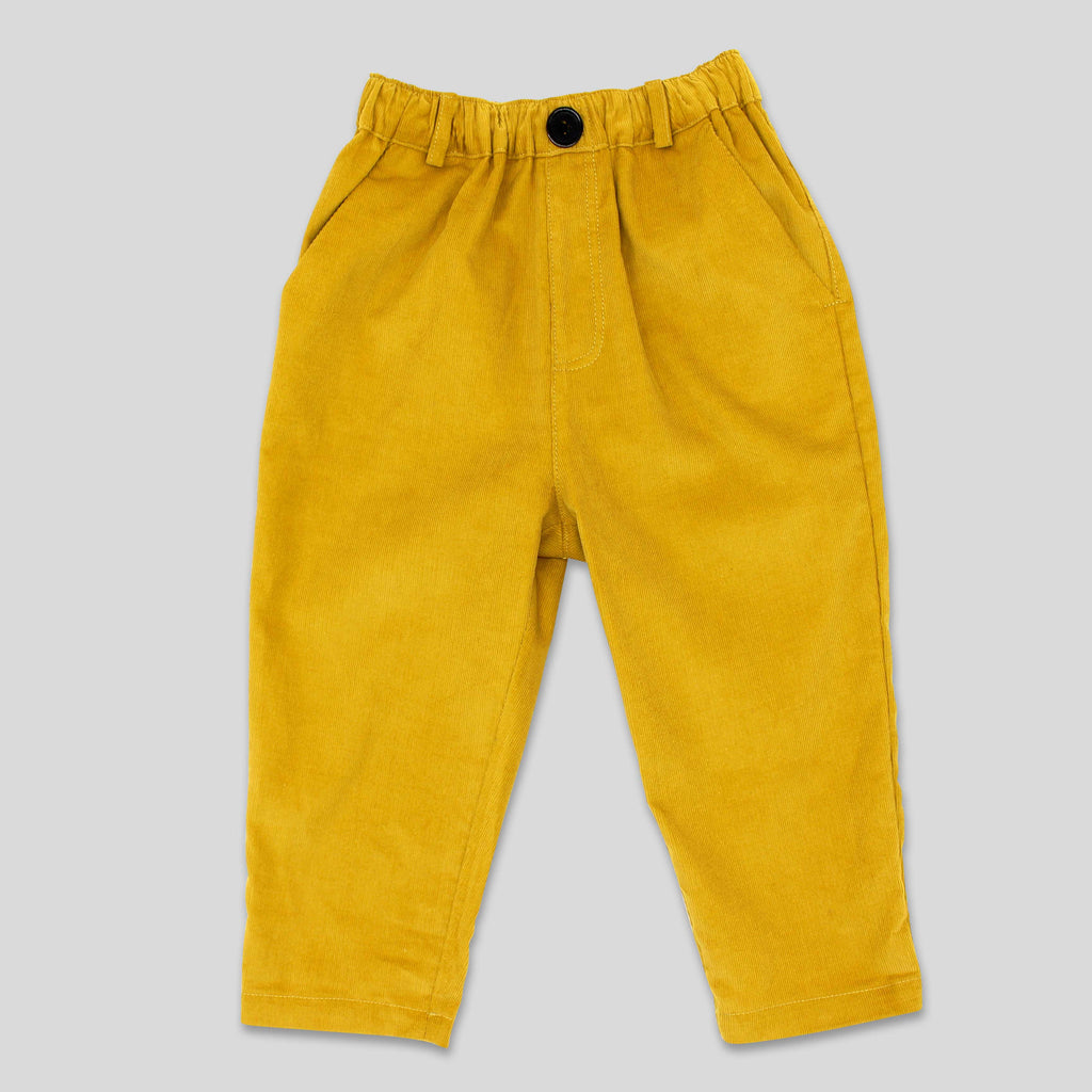 New: Cord Trousers in Mustard Yellow