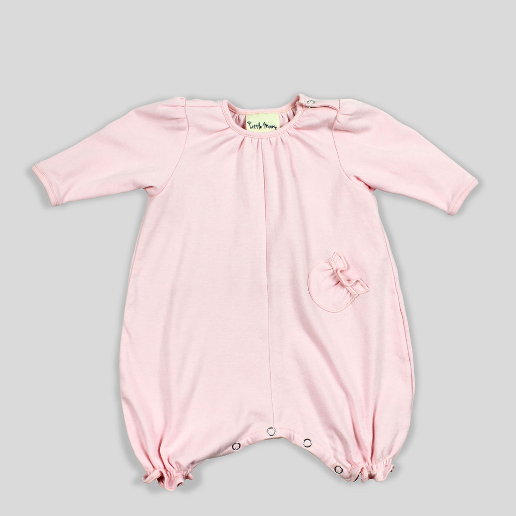 NEW: GOTS Certified Organic Soft Knit Jumpsuit in Blush Rose