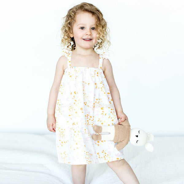 Girl's Meadow Print Sundress