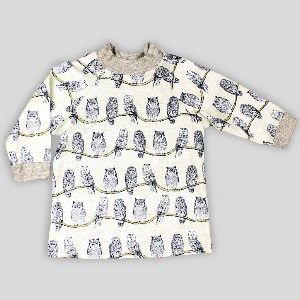 Owl Print Long Sleeve Top