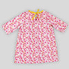 Pre-order: Pink Floral Gathered Neck Dress with Sleeves