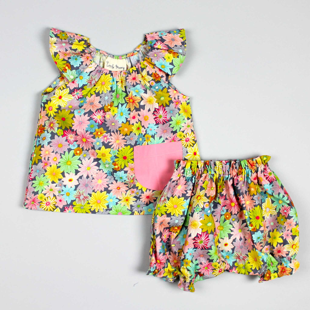 Daisy Ruffle Top and Bloomers Set