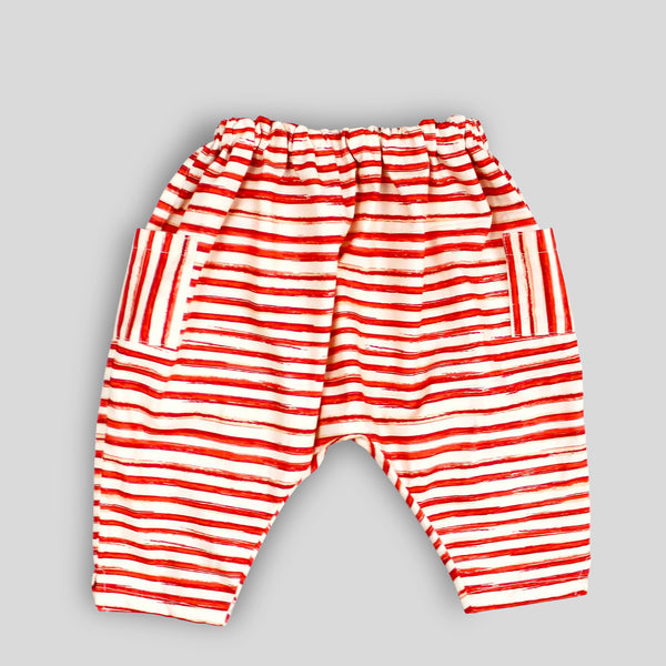 Red Striped Harem Pants