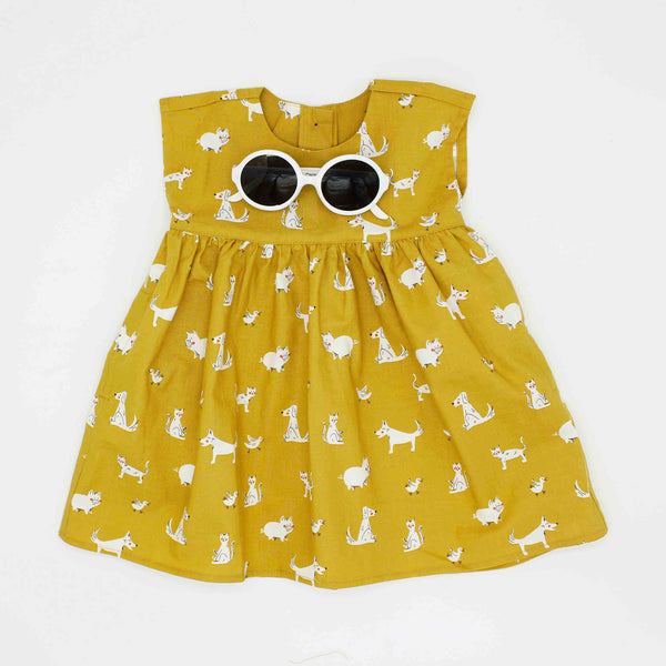 NEW: Yellow Animal Dress