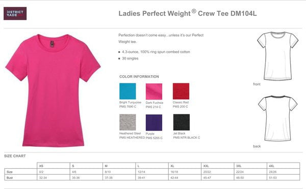 DM104L - LADIES 100% COTTON RING SPUN T-SHIRT