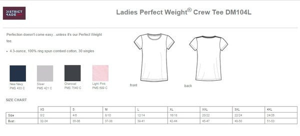 BESSIE'S DM104L - LADIES 100% COTTON RING SPUN T-SHIRT