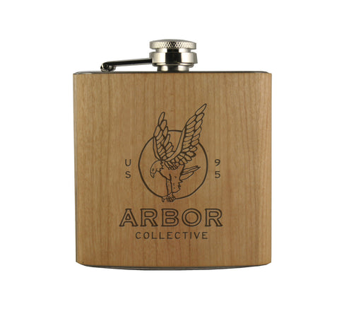 FLYING HIGH SINCE 95' - WOOD WRAPPED FLASK