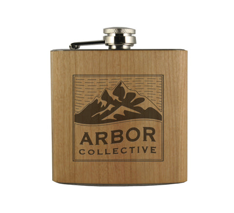 MOUNTAIN RANGE - WOOD WRAPPED FLASK
