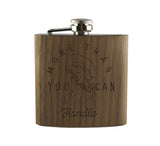 MORE THAN YOU CAN HANDLE - WOOD WRAPPED FLASK