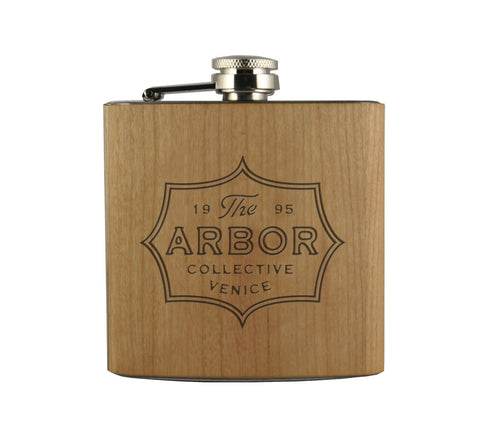THE ARBOR COLLECTIVE - WOOD WRAPPED FLASK