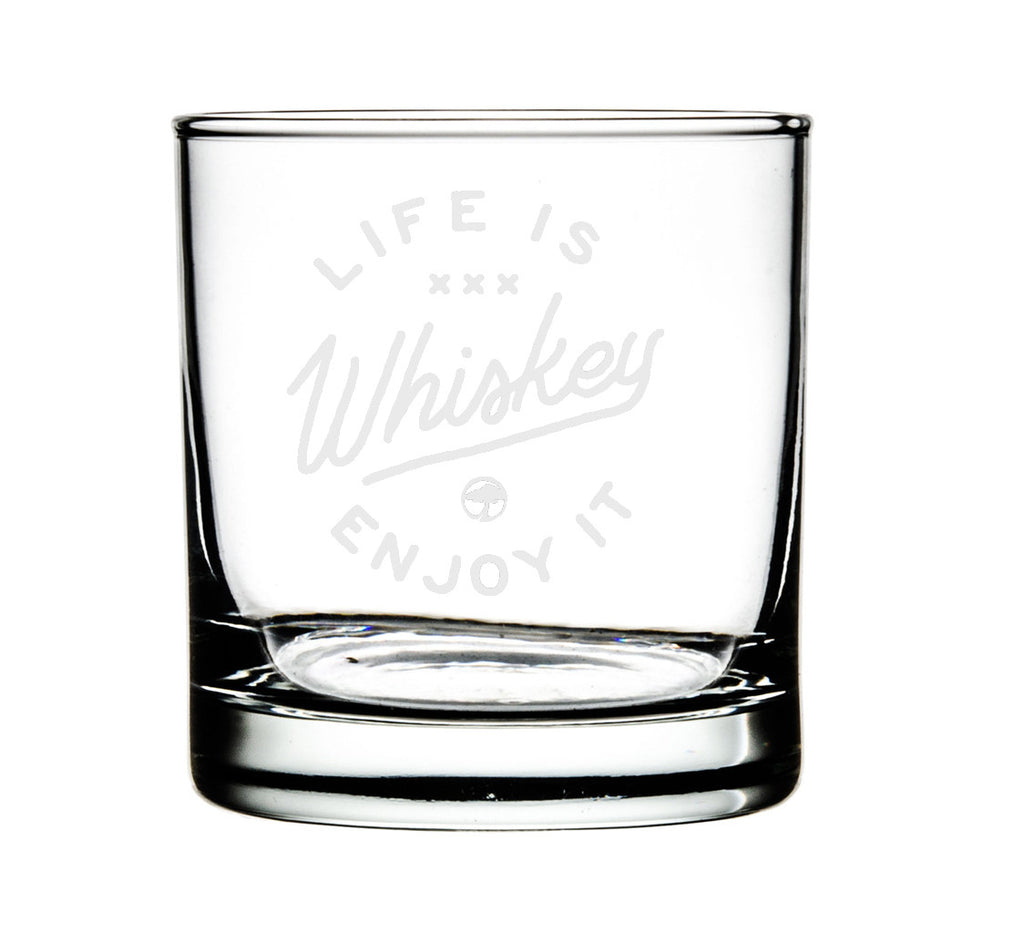 ARBOR - Life is Whiskey - Set of 4 Whiskey Glasses