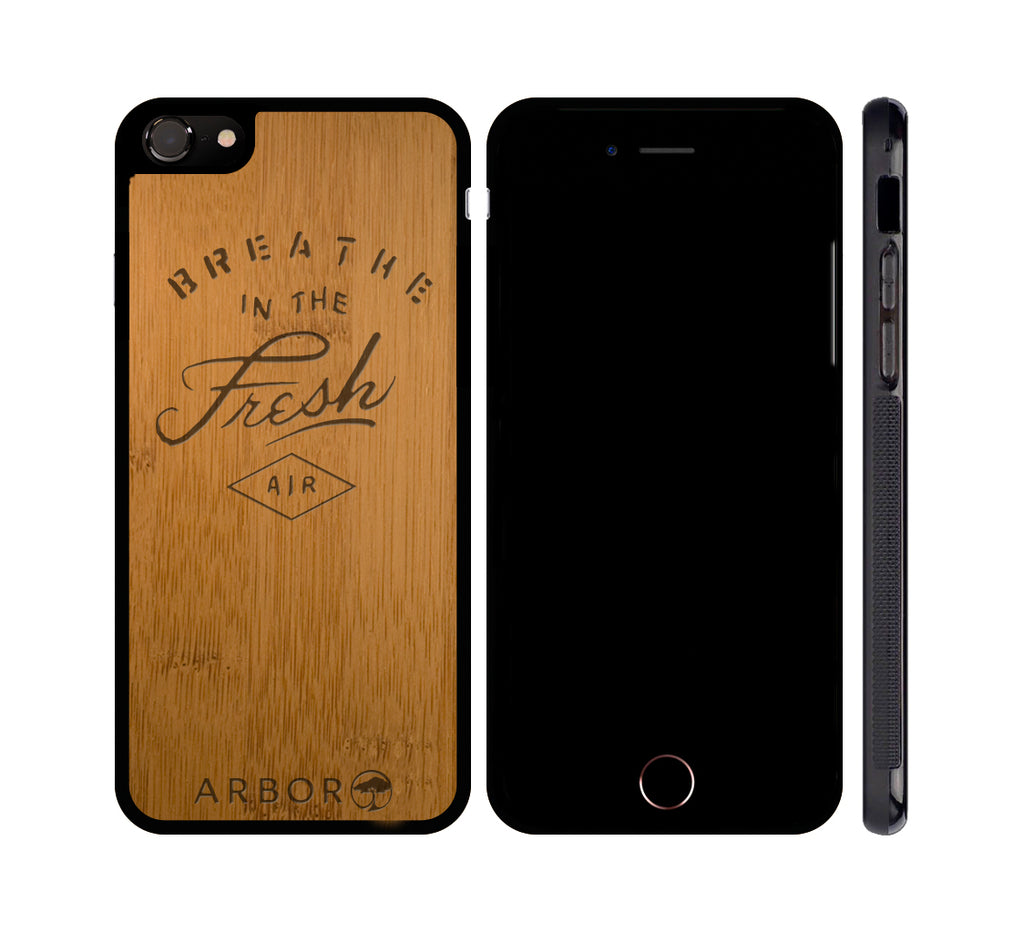 BREATHE IN THE FRESH AIR - WOOD iPHONE OR GALAXY CASE