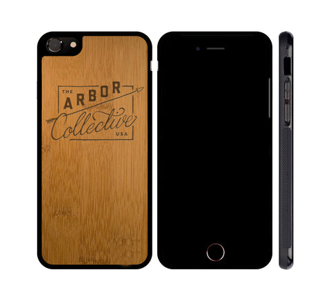 ARBOR BADGE - WOOD iPHONE OR GALAXY CASE