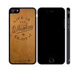 Life is Whiskey - WOOD iPHONE OR GALAXY CASE