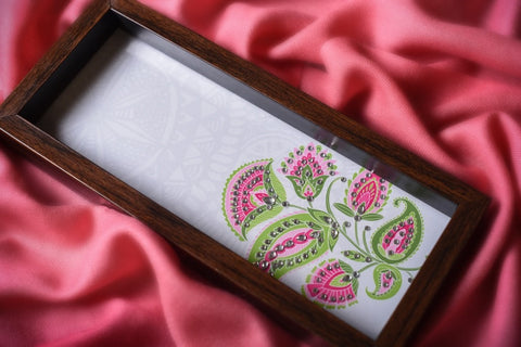 White Floral Box Tray
