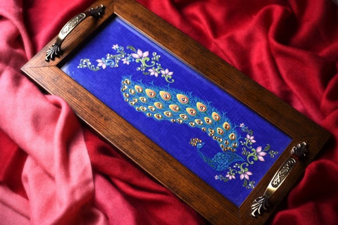 Persian Blue Peacock Long Tray