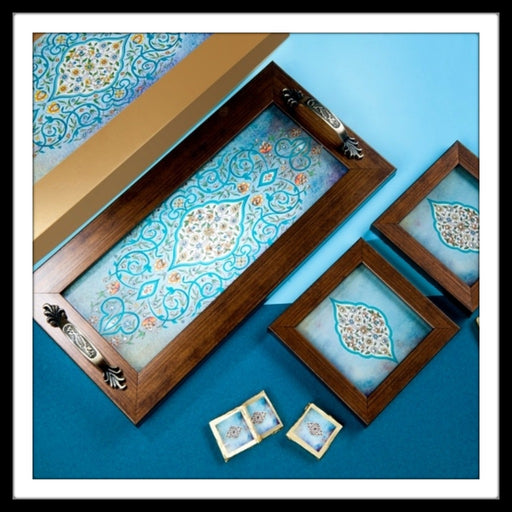 Light Blue Mughal Motif Gift Hamper