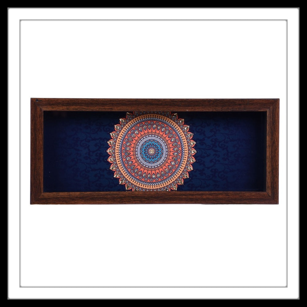 Navy Blue Mandala Box Tray - Footprints Forever