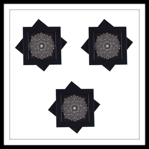 Black Mandala  Coasters - Footprints Forever