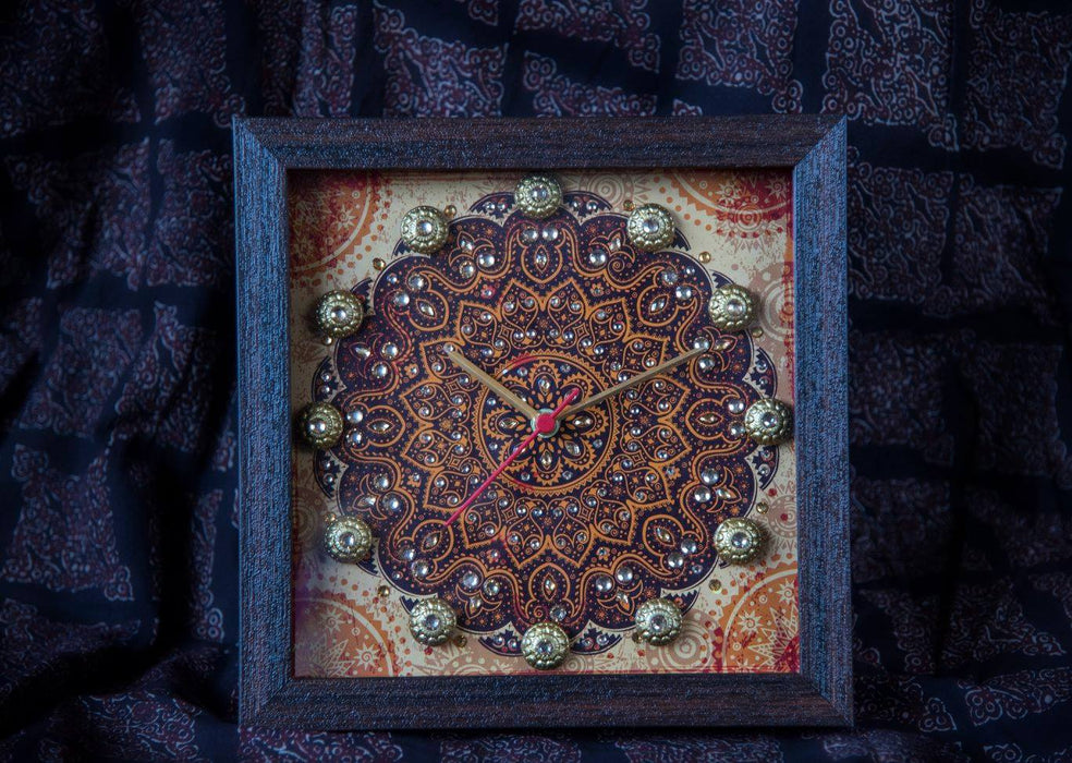 Rust Mandala Clock - Footprints Forever