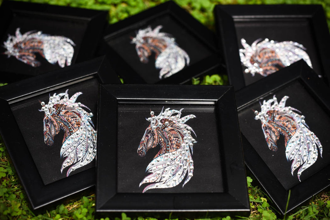 coasters with horse print embellished with diamante