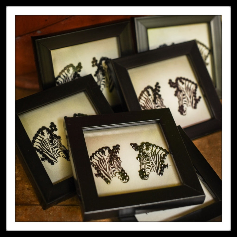Zebra  Coasters - Footprints Forever