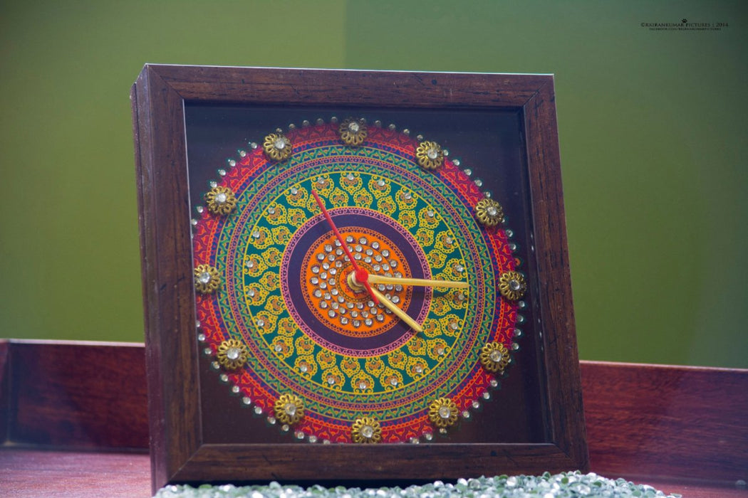 Purple Mandala Clock - Footprints Forever