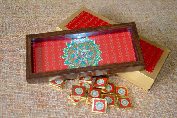 Diwali Gift box with tray and chocolates