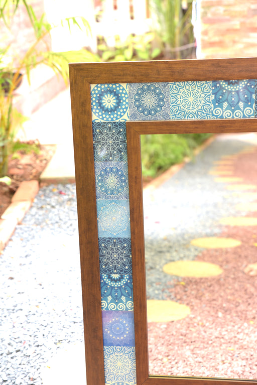 Handmade Blue & White Mirror (Small)