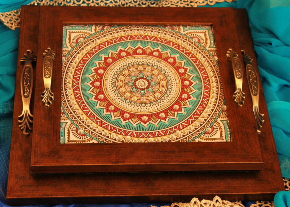 Anokhi Square Tray - Footprints Forever