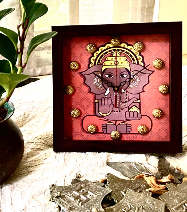 Rust Ganesha Clock