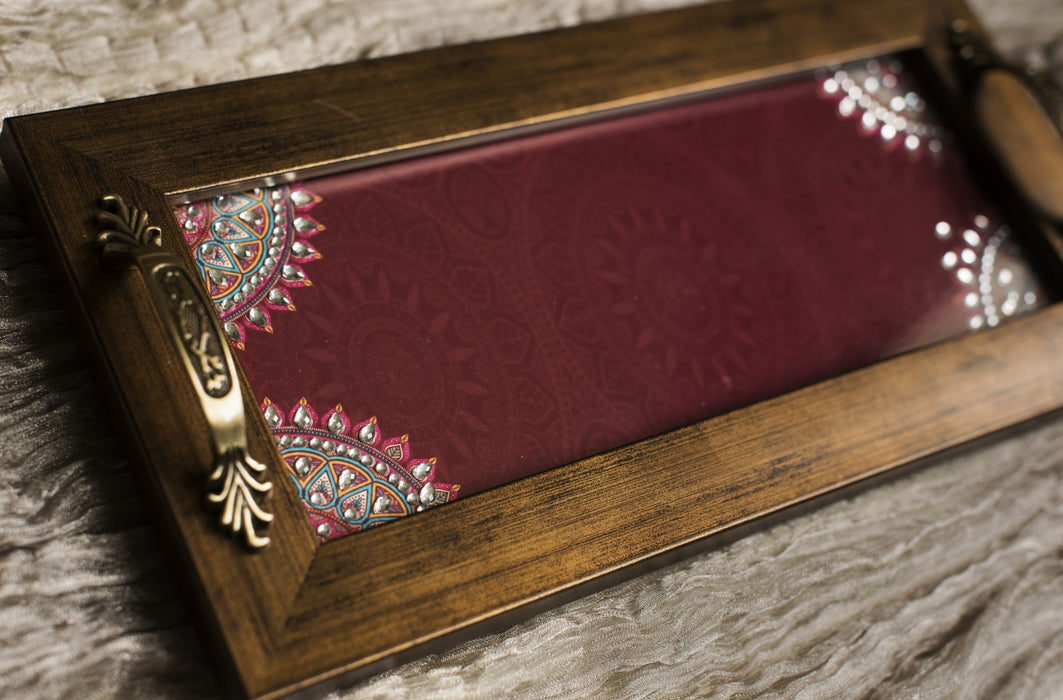 Maroon Long Tray
