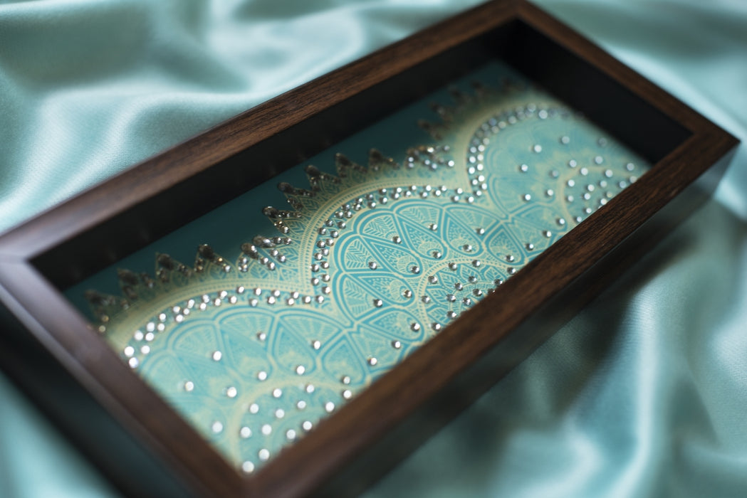 Sky Blue Jaded Box Tray - Footprints Forever