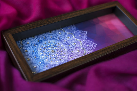 Bright Pink & Blue Box Tray