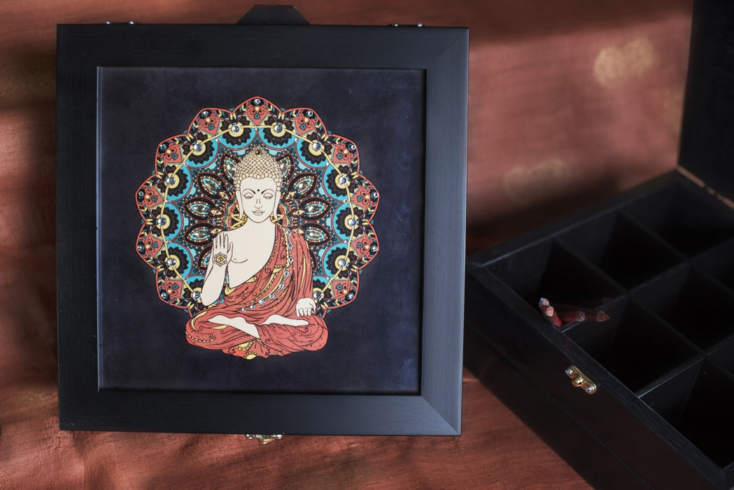 Large Buddha Multi-purpose Box - Footprints Forever