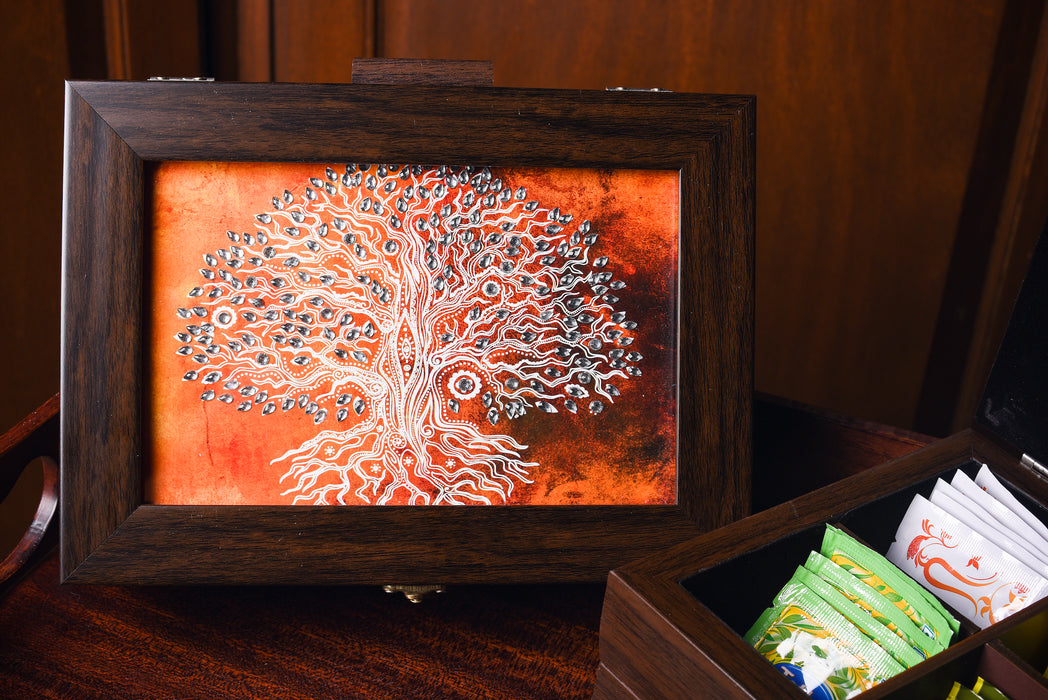 Orange Tree of Life Multipurpose Box ( Small) - Footprints Forever