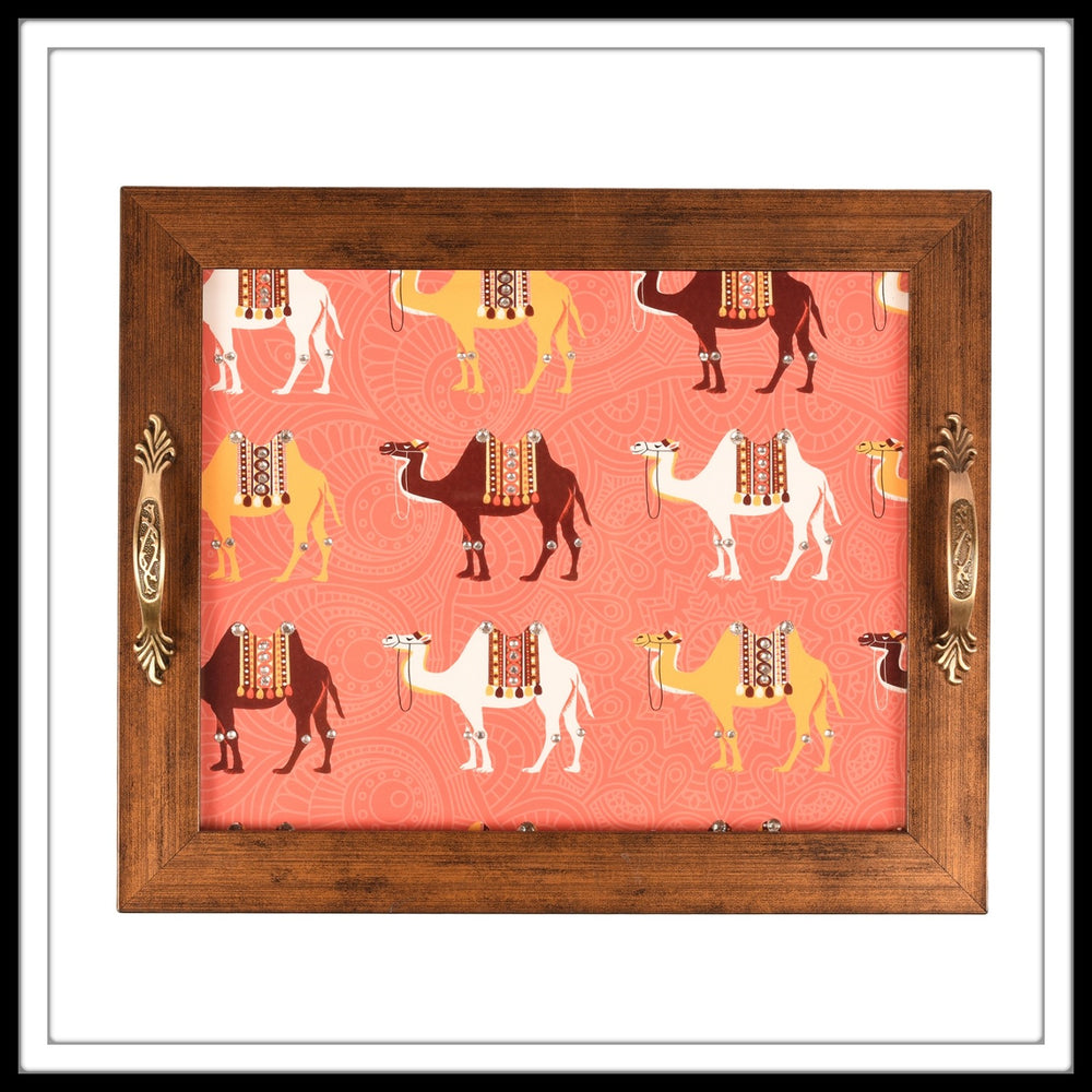 Rajasthani Camel Rectangular Tray - Footprints Forever