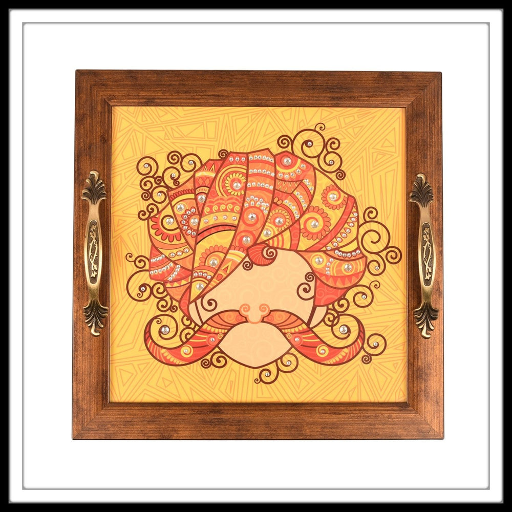 Rajasthani Turban Square Tray - Footprints Forever