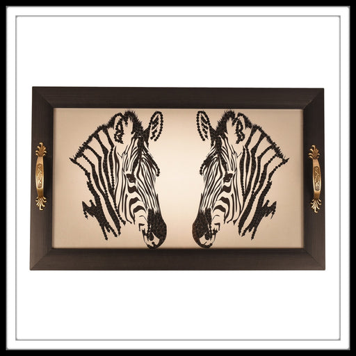 Zebra Long Tray - Footprints Forever