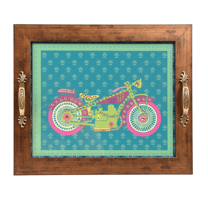 Green Bike Tray Rectangular Tray - Footprints Forever