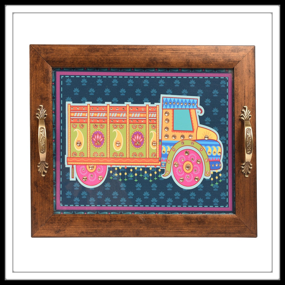Blue Truck Rectangular Tray - Footprints Forever