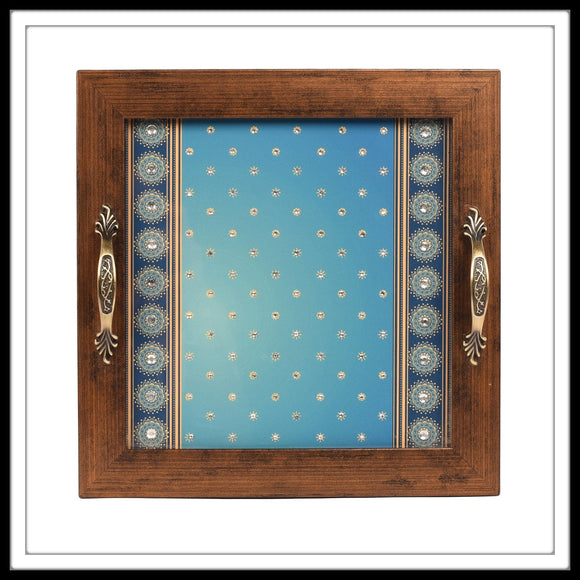 Bedazzled Blue Tray