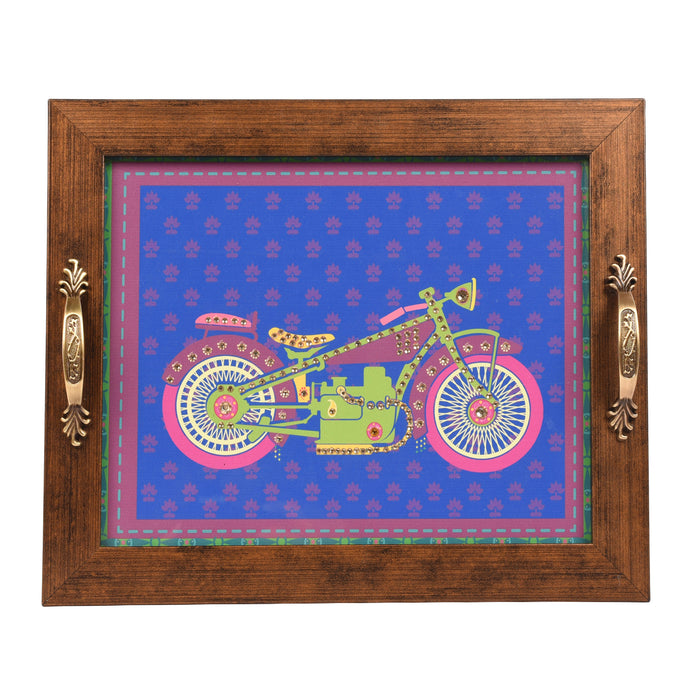 Purple Bike Tray Rectangular Tray - Footprints Forever