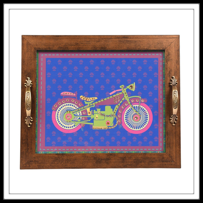 Purple Bike Tray Rectangular Tray
