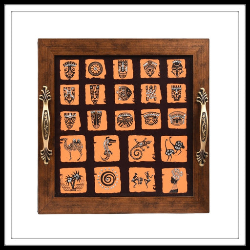 African Square Motifs - Footprints Forever
