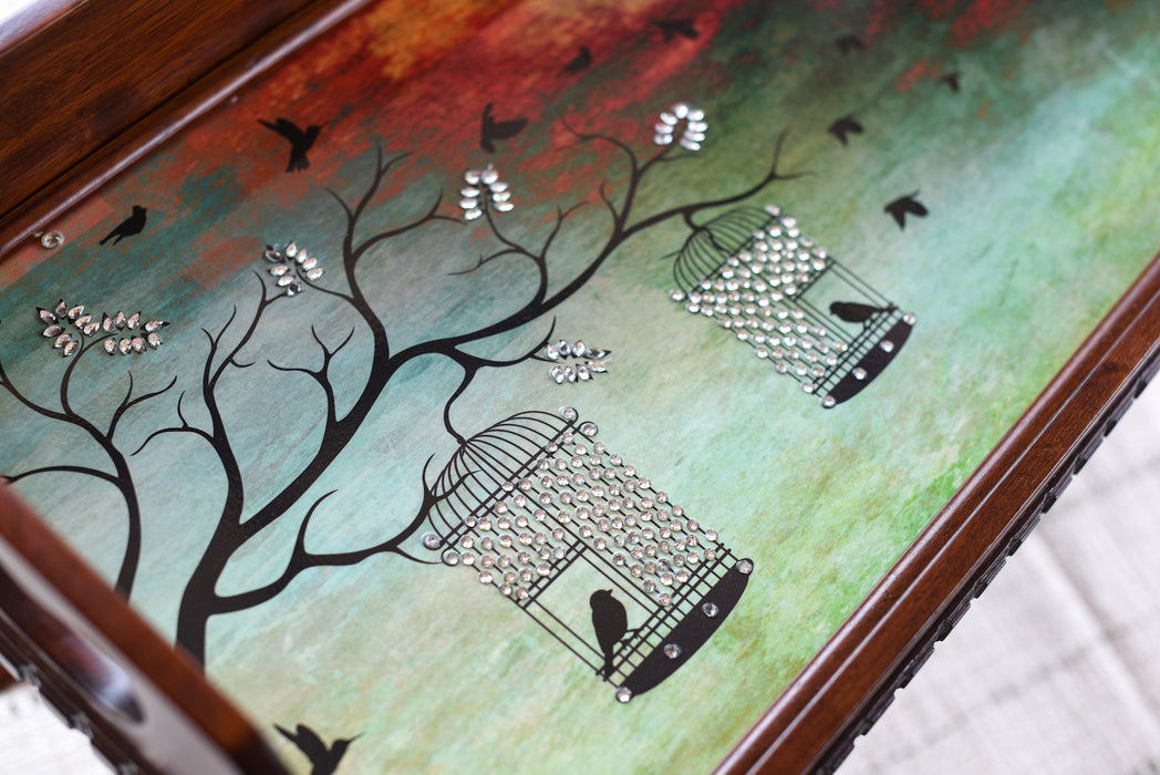 Bird Cage Tray & Bed Table - Footprints Forever