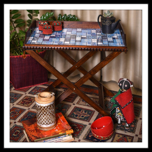 Moroccan Butler Tray with Trestle Stand - Footprints Forever
