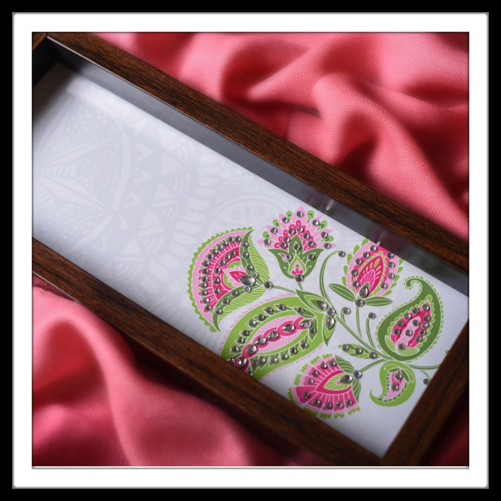 White Floral Box Tray - Footprints Forever