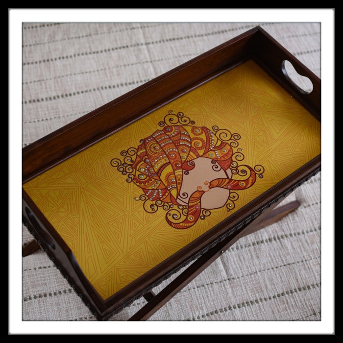 Rajasthani Turban Tray & Bed Table - Footprints Forever